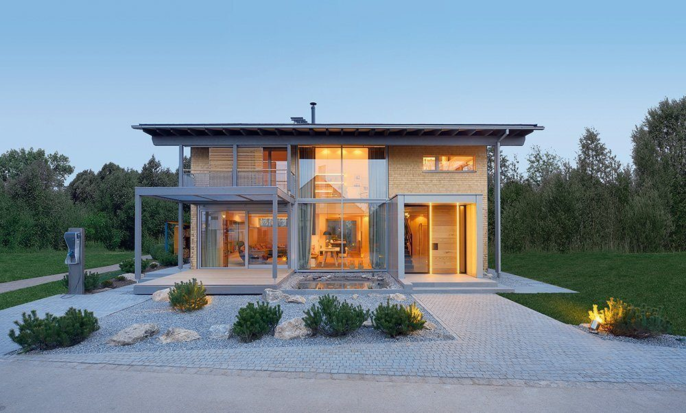 Haus mit Holzfassade von Baufritz
