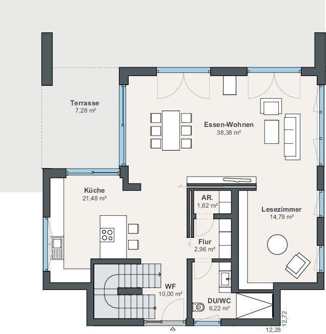 Top Smarthome Grundriss Erdgeschoss