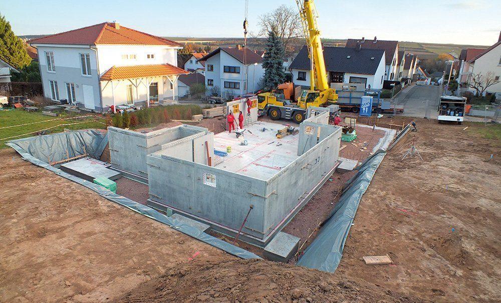 Aufbau eines Kellers