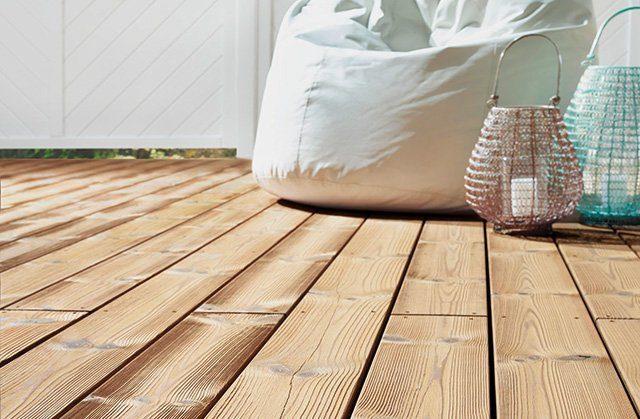 Holz als Terrassenboden