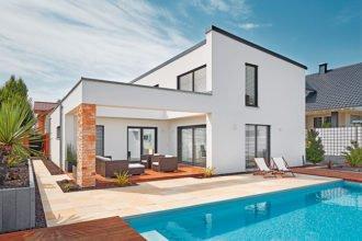 Haus auf schmaler Baulücke