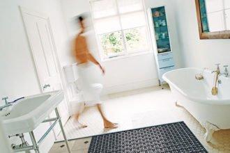 Wärme mit einer Fußbodenheizung