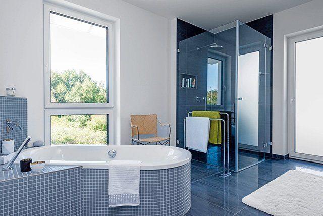Badezimmer Massivhaus