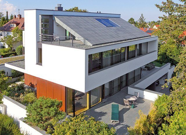 Einfamilienhaus mit Pultdach