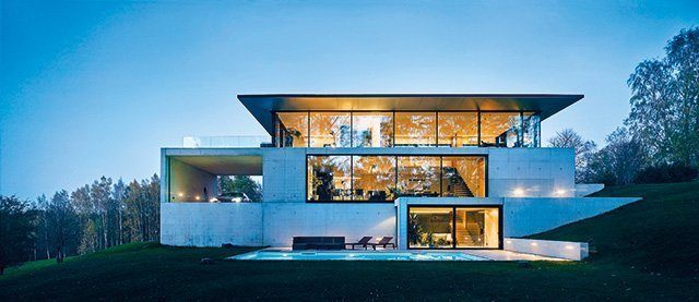 Fassadengestaltung Glas