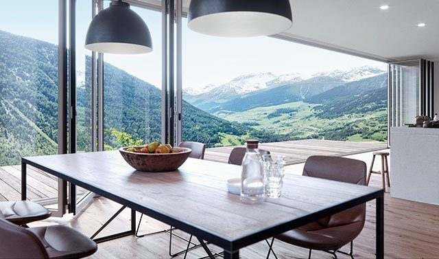 Solarlux Haus Innenraum Fenster