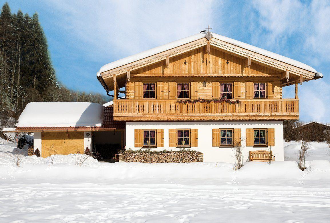 Vitalhaus Kirchberg - Ein Haus mit Schnee bedeckt - Haus