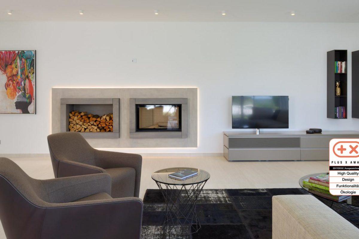 Musterhaus Bungalow Vita - Ein Wohnzimmer - Interior Design Services