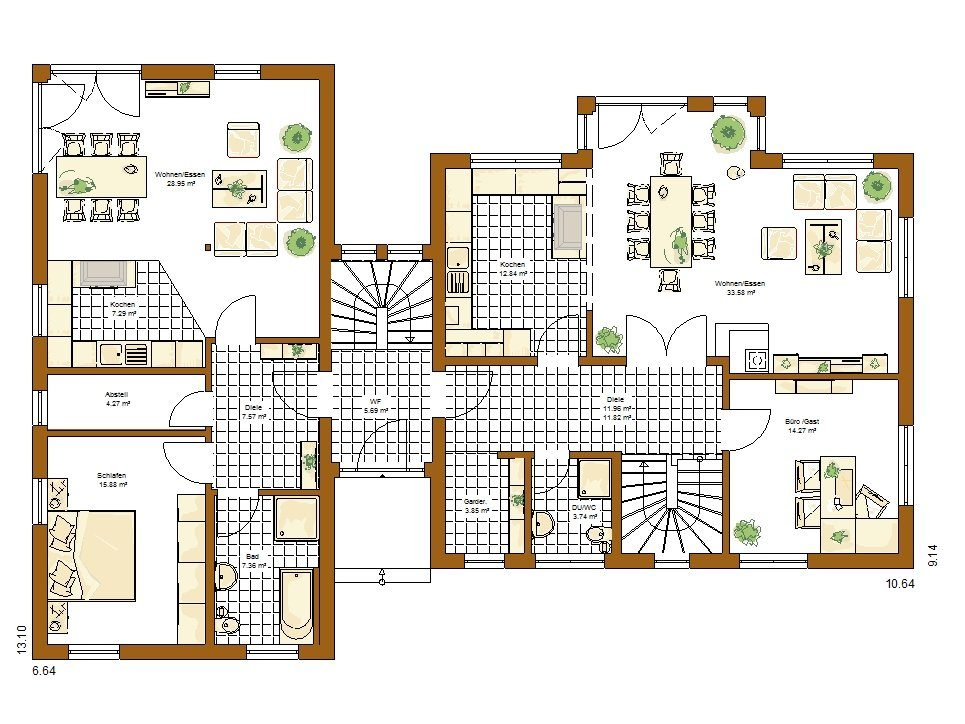Stadtvilla Atlanta - Eine Nahaufnahme von einer Karte - Gebäudeplan