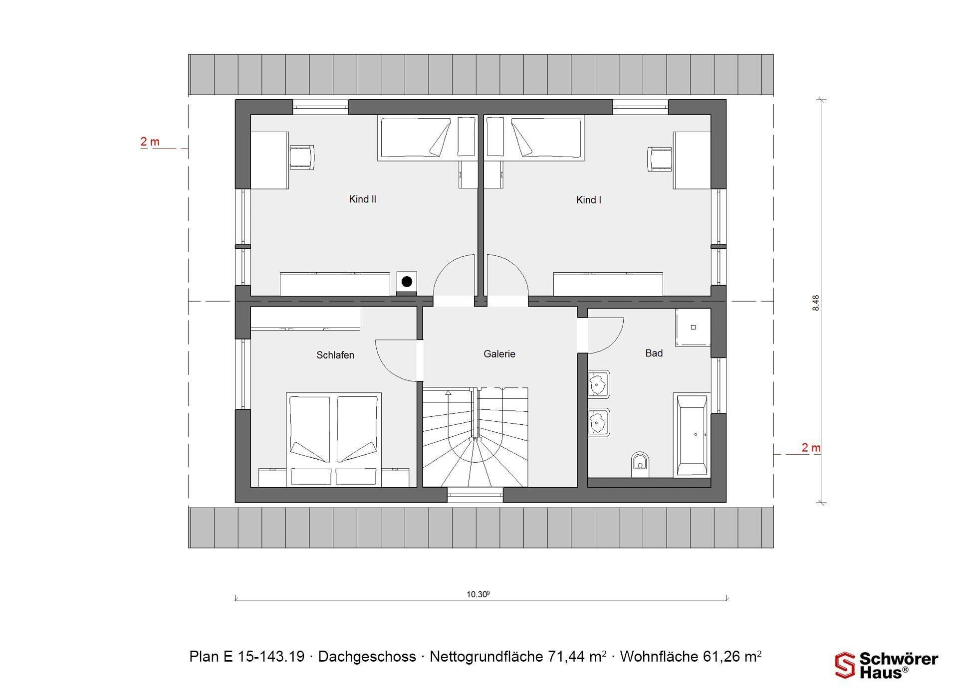 Haus Noller - Ein Screenshot eines Videospiels - Gebäudeplan