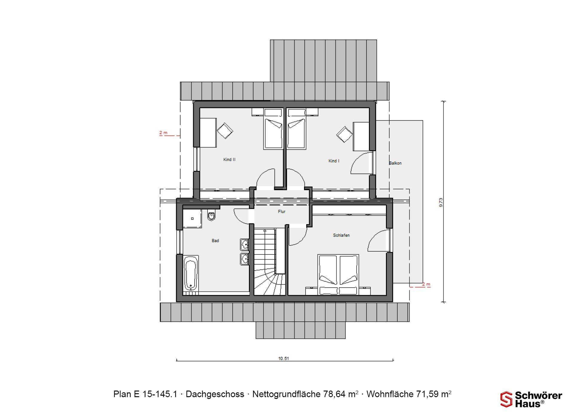 Plan E 15-145.1 - Eine Nahaufnahme einer Uhr - Gebäudeplan