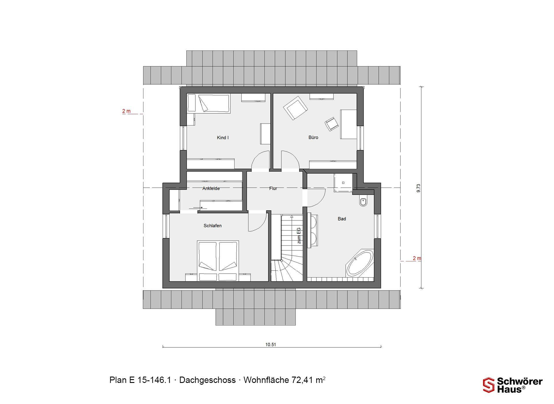 Plan E 15-146.1 - Eine Nahaufnahme von einem Logo - Gebäudeplan