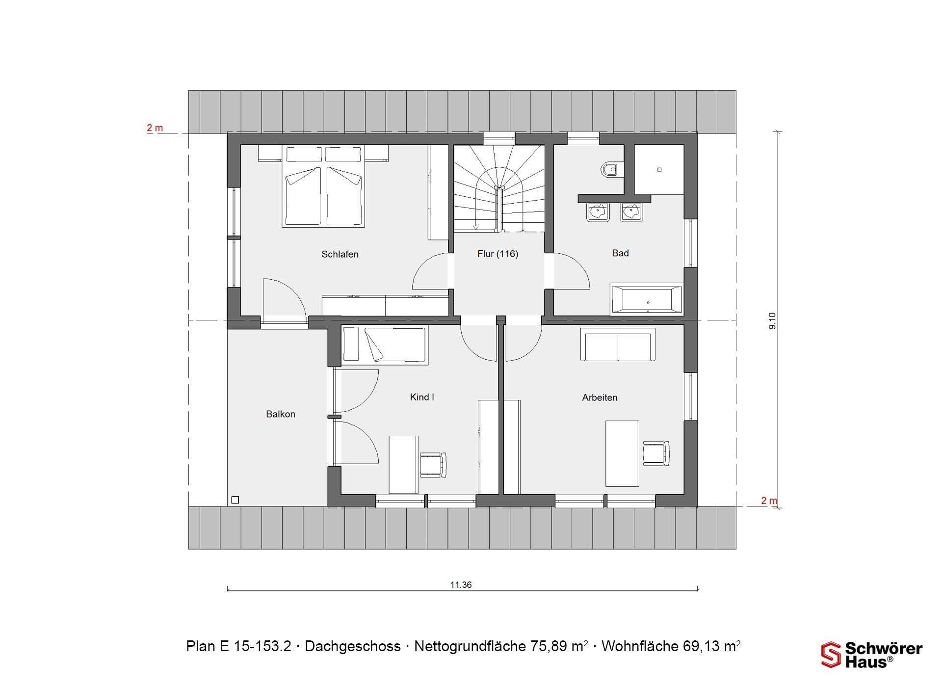 Plan E 15-143.1 - Ein Screenshot eines Videospiels - Gebäudeplan
