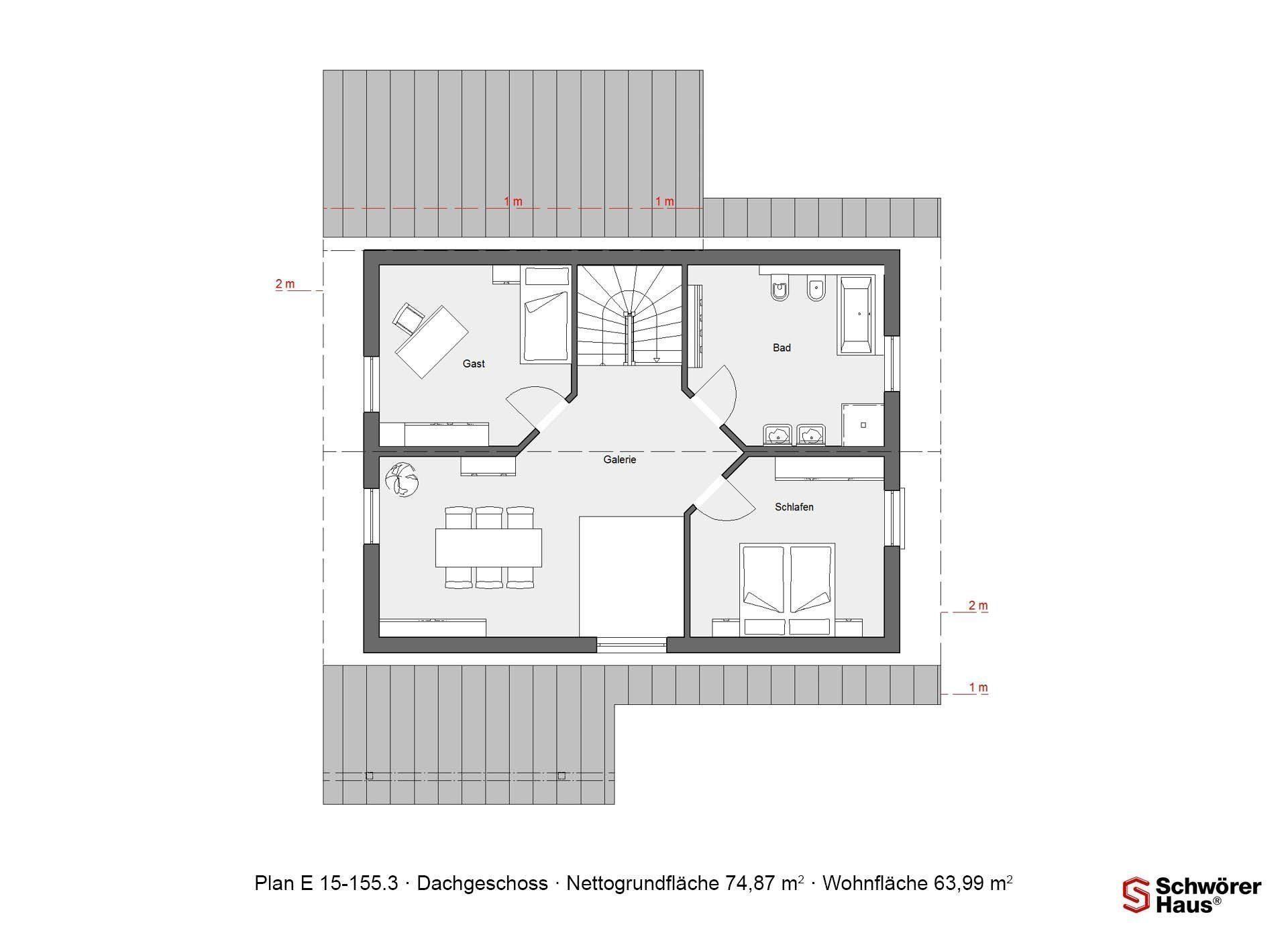 Haus Hälker - Eine Nahaufnahme einer Uhr - Gebäudeplan