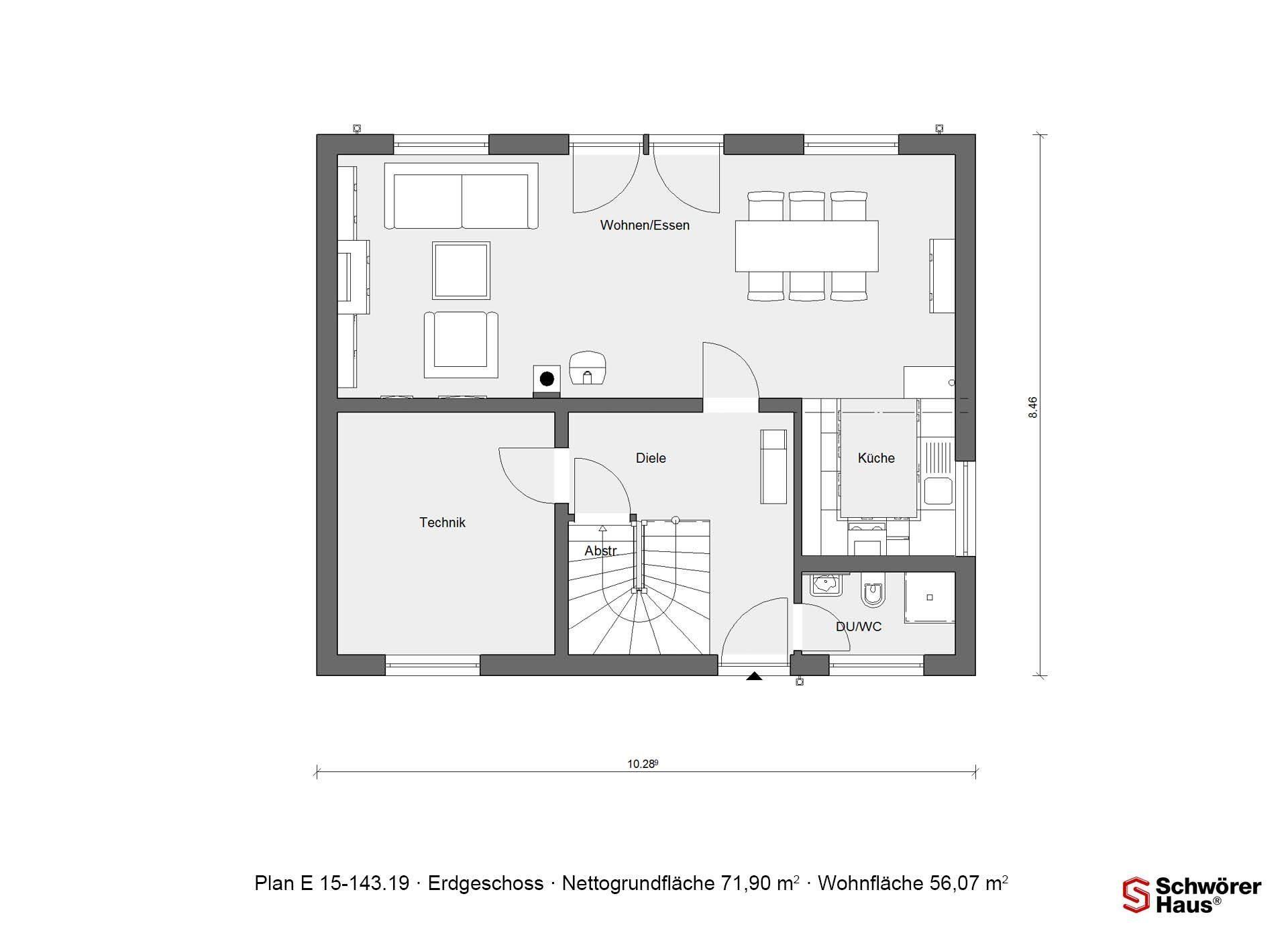 Haus Noller - Ein Screenshot eines Handys - Gebäudeplan