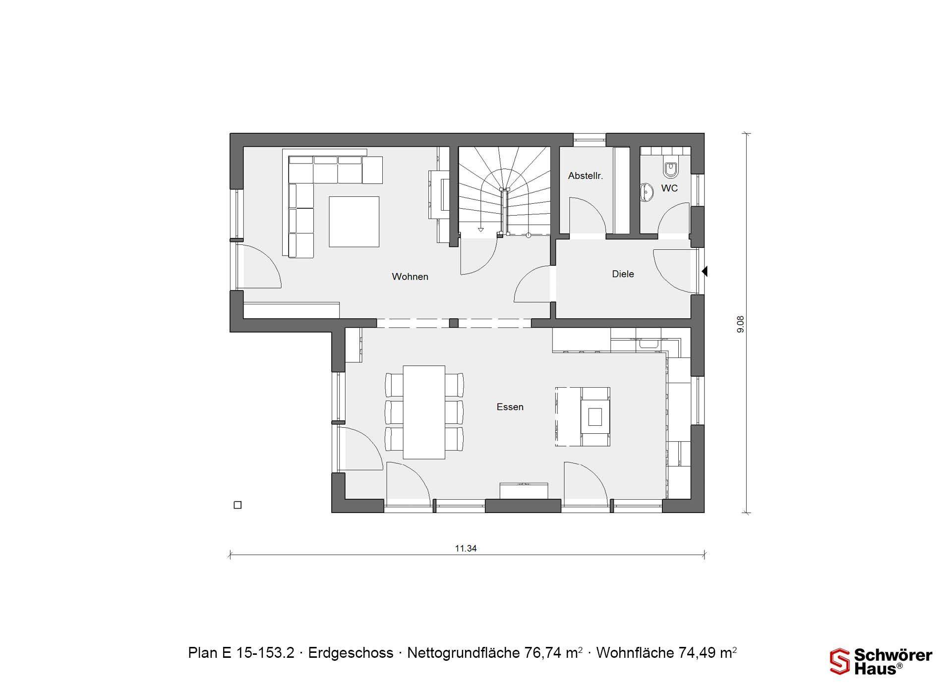 Plan E 15-143.1 - Ein Screenshot eines Handys - Gebäudeplan