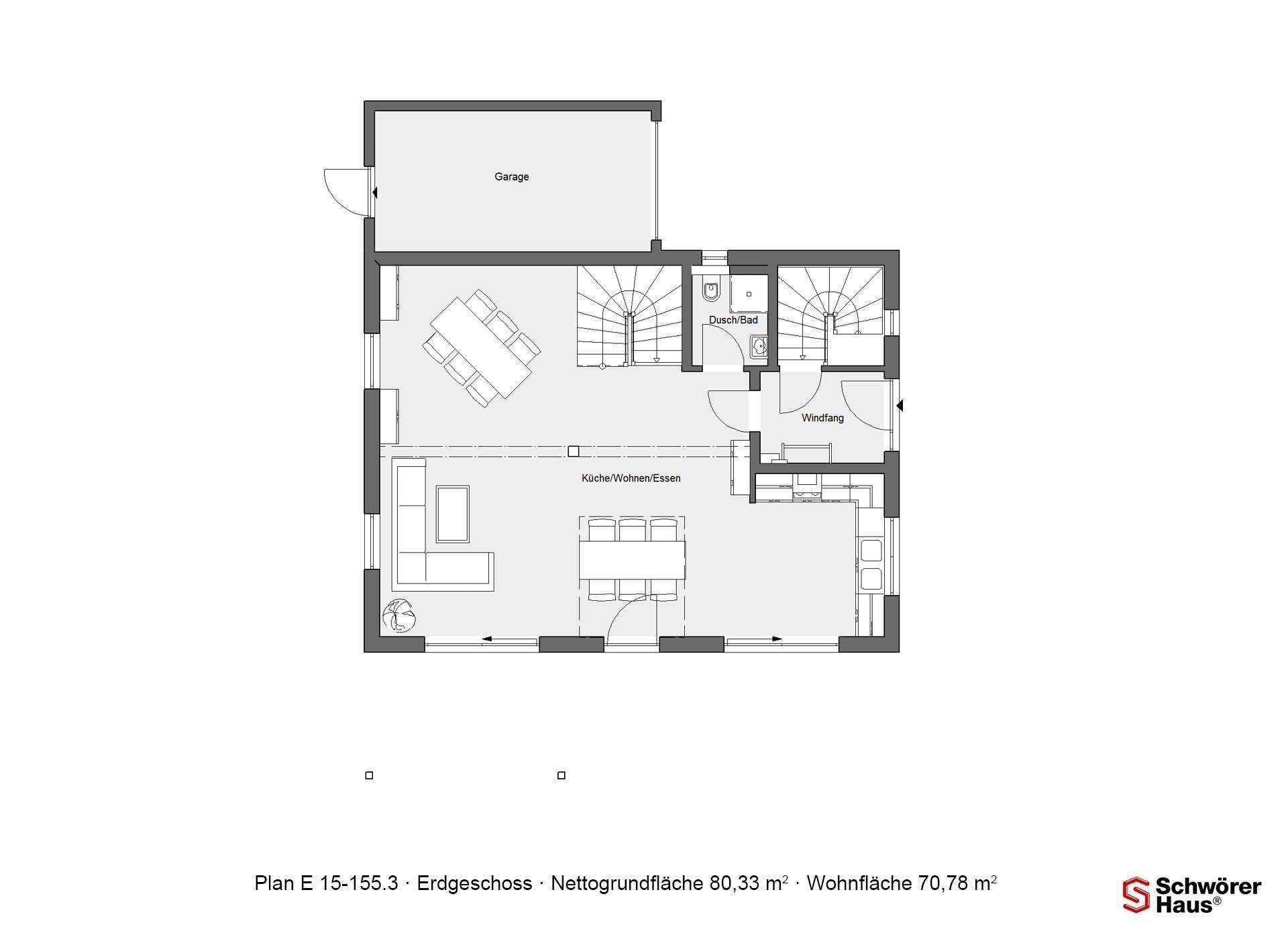 Haus Hälker - Ein Screenshot eines Videospiels - Gebäudeplan