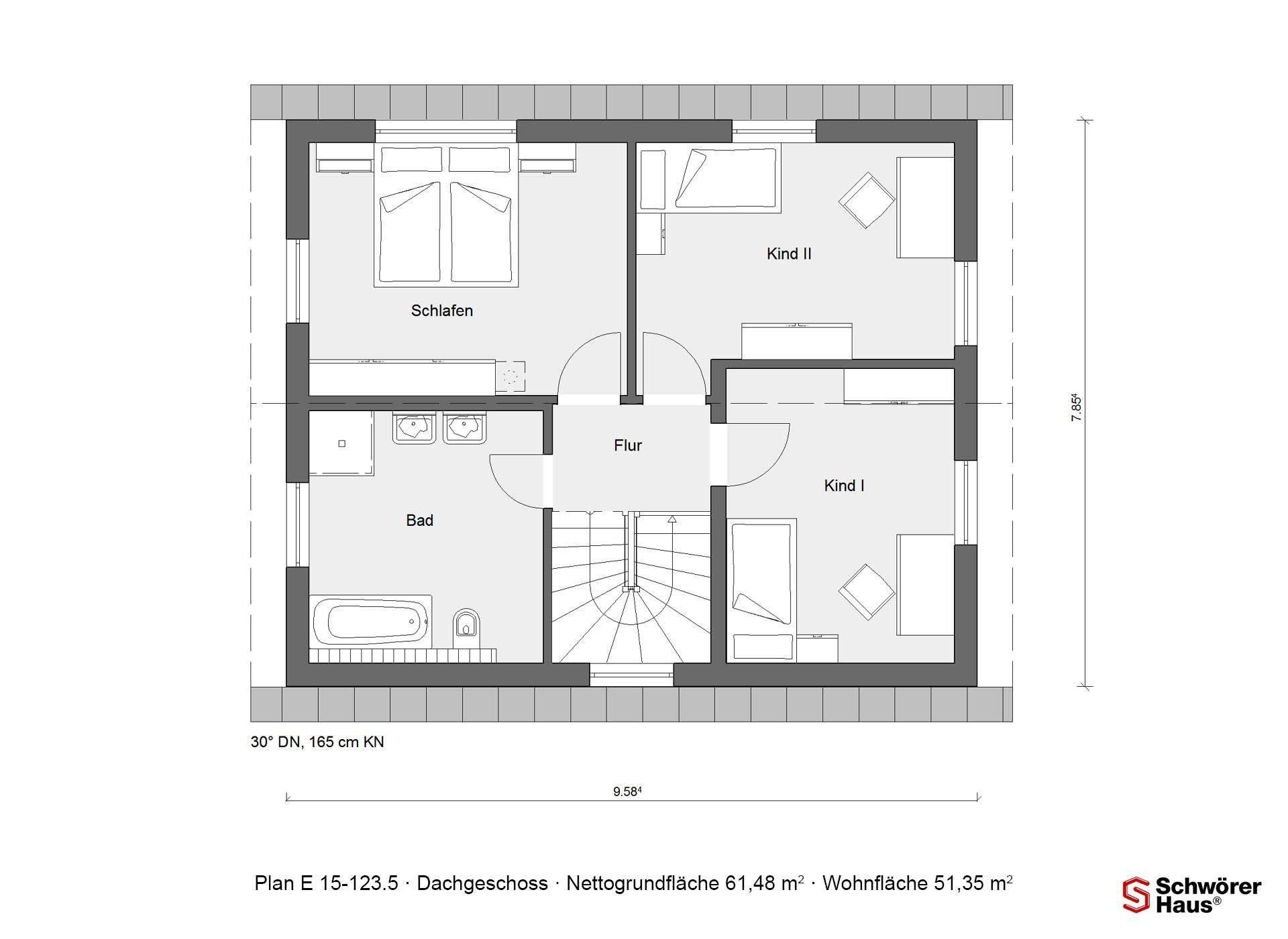 Plan E 15-107.2 - Eine Nahaufnahme einer Uhr - Gebäudeplan