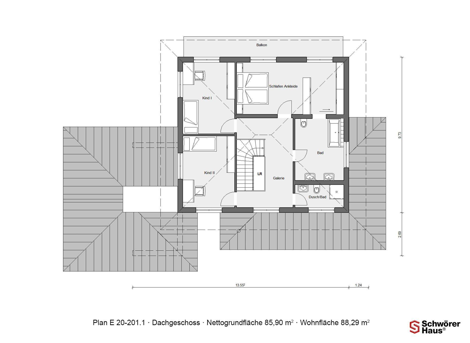 Plan E 20-182.1 - Eine Nahaufnahme von einem Logo - Gebäudeplan
