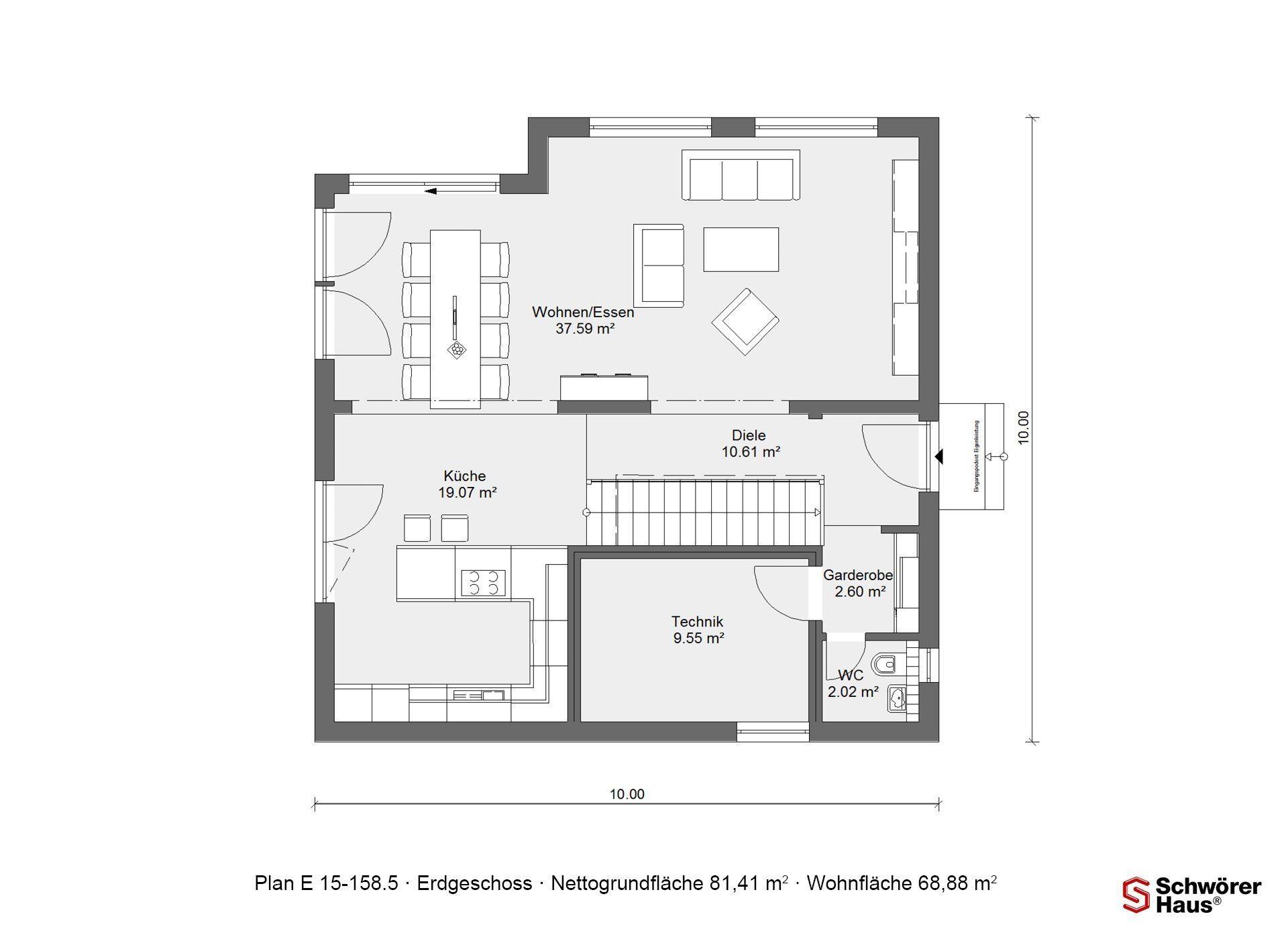 Kundenhaus Günzel - Eine Nahaufnahme einer Uhr - Gebäudeplan