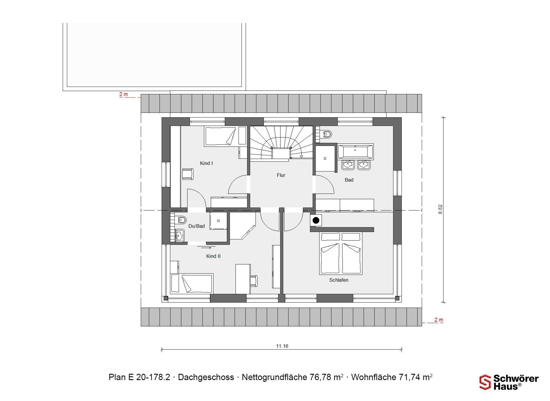 Musterhaus Günzburg - Ein Screenshot eines Videospiels - Gebäudeplan