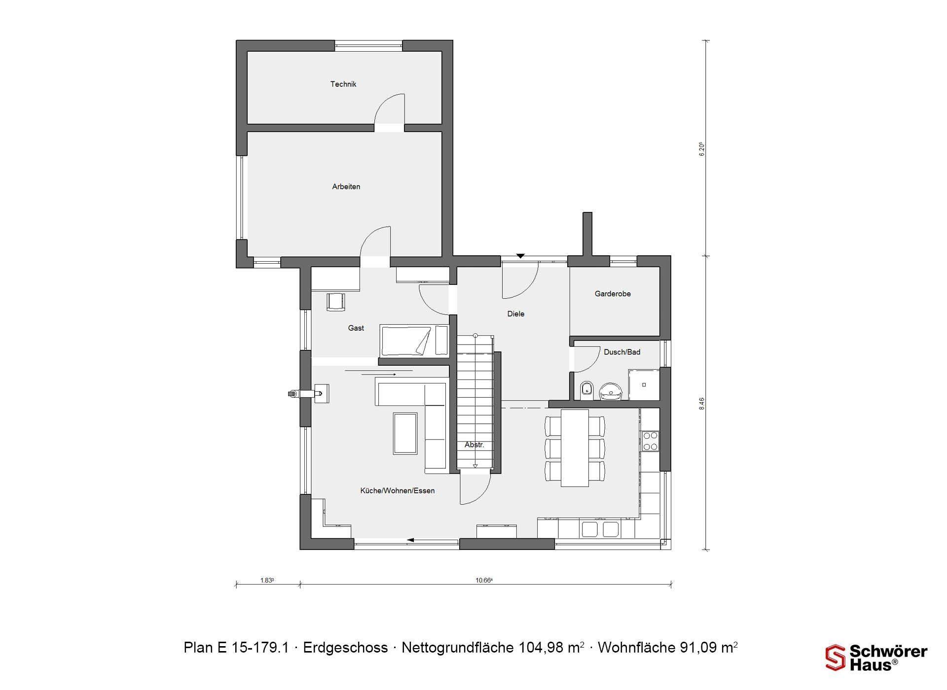 Schwörer Haus Musterhaus Villingen-Schwenningen - Eine Nahaufnahme eines Geräts - Gebäudeplan