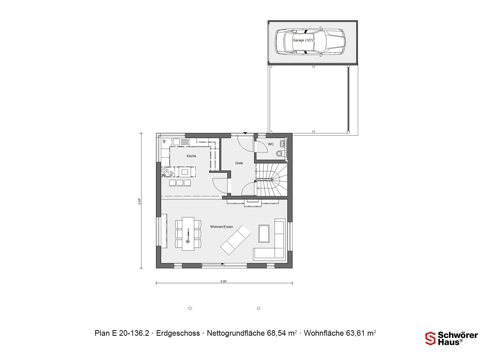 Haus Buser - Ein Screenshot eines Handys - Gebäudeplan