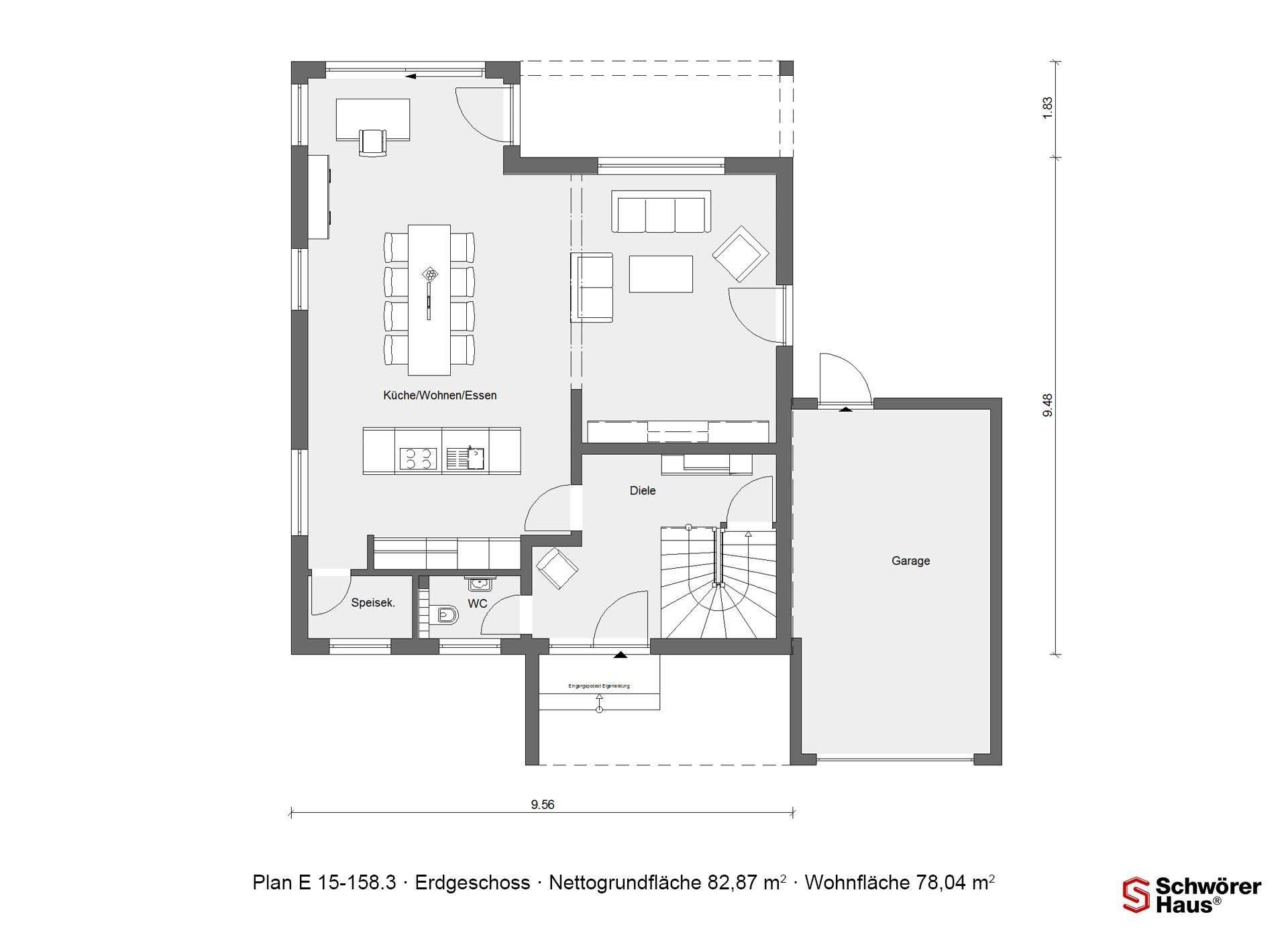 Kundenhaus Rimsa/Heck - Eine Nahaufnahme eines Geräts - Gebäudeplan