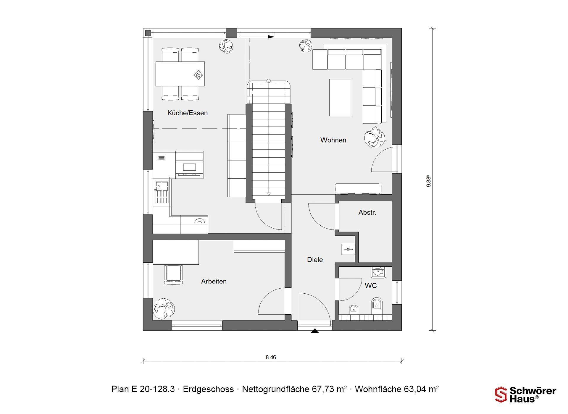 Haus Triebner - Ein Screenshot eines Handys - Gebäudeplan