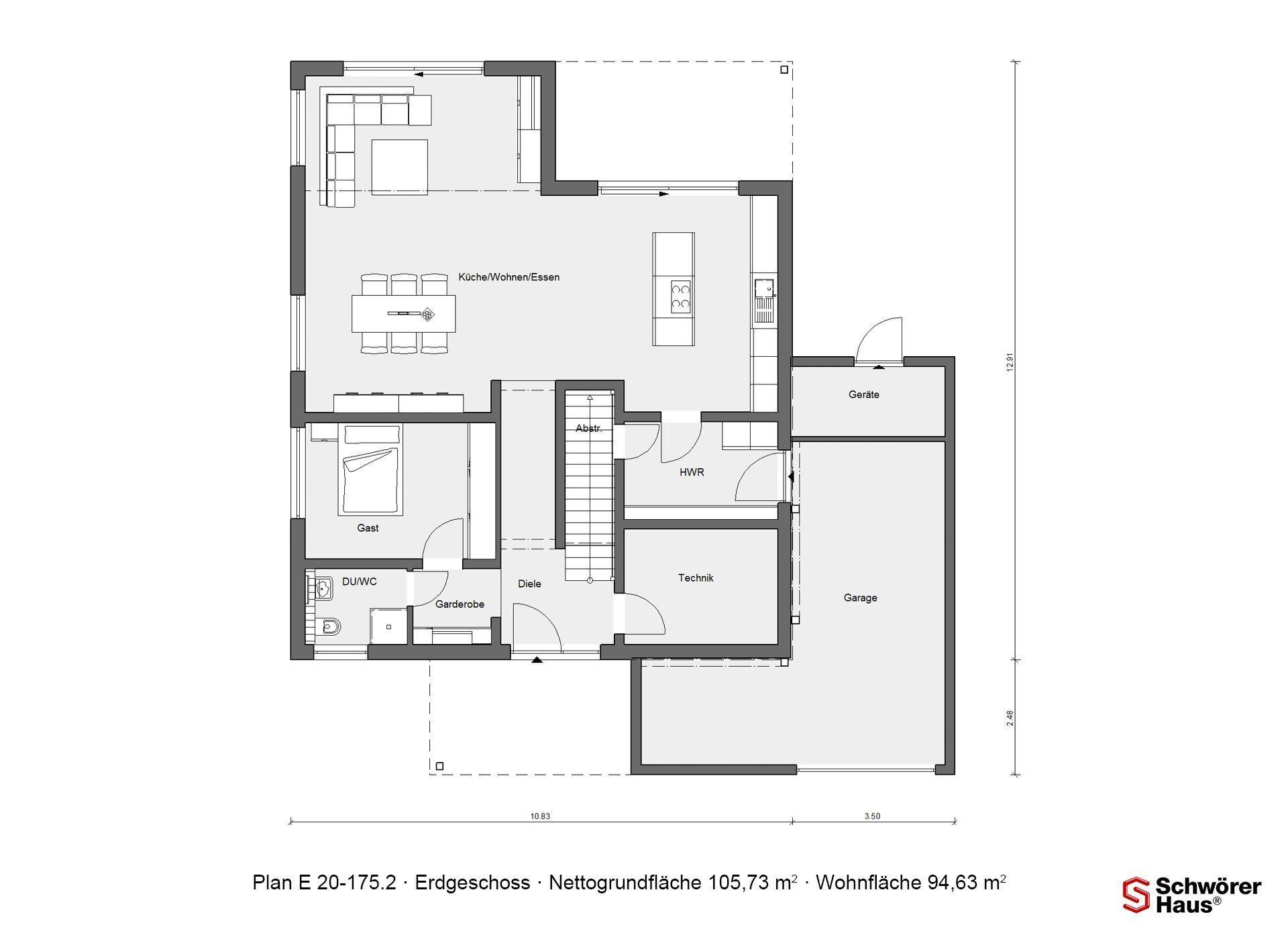 Haus Groh - Eine Nahaufnahme von einem Stück Papier - Gebäudeplan