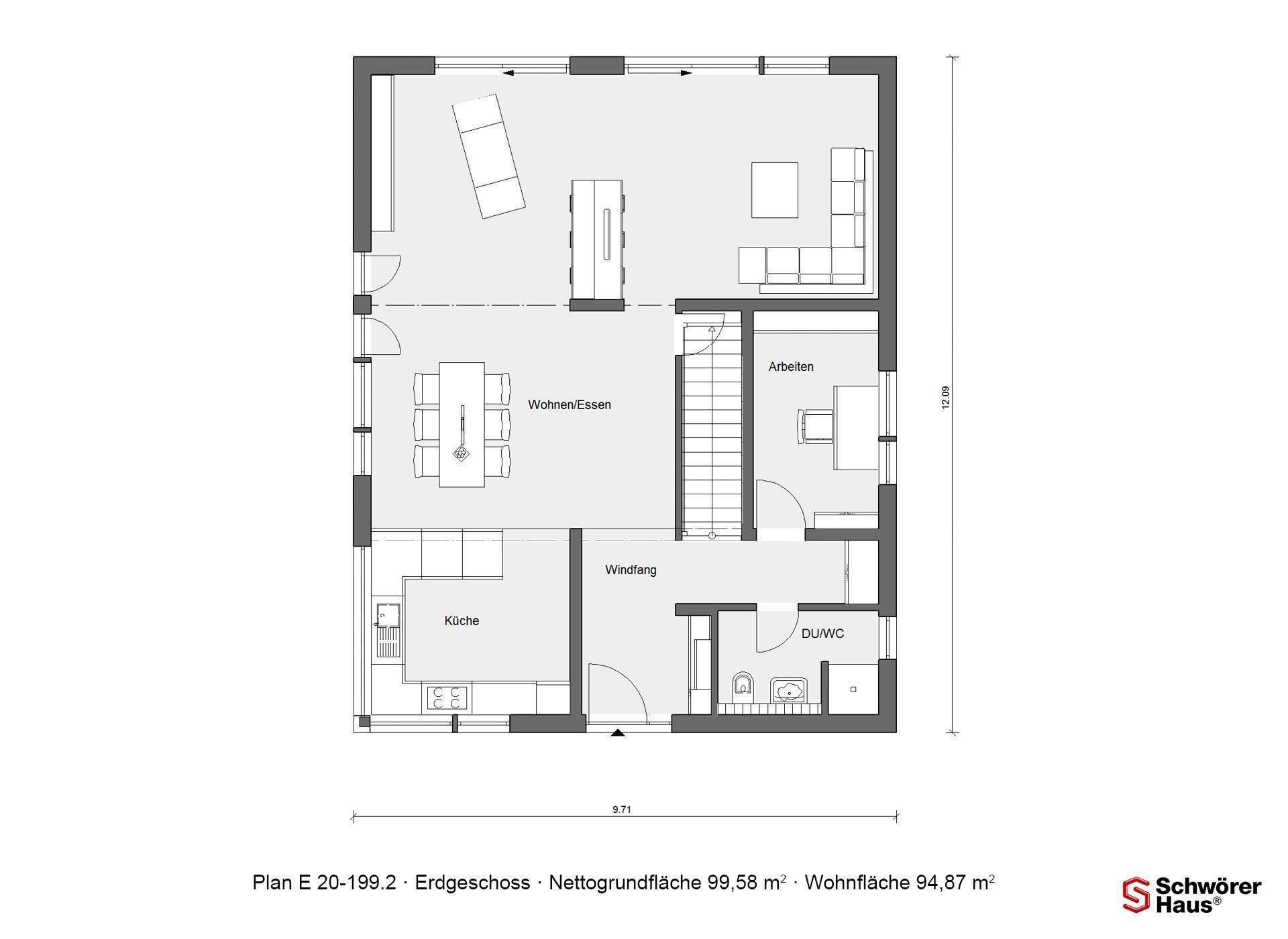 Schöner Wohnen Haus - Eine Nahaufnahme einer Uhr - SchworerHaus KG