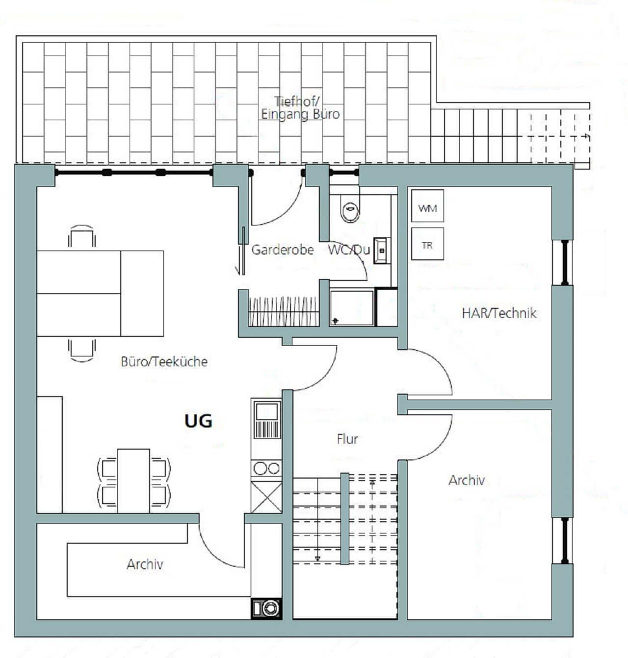Haus U 089 - Eine nahaufnahme von text auf einem weißen hintergrund - Gebäudeplan