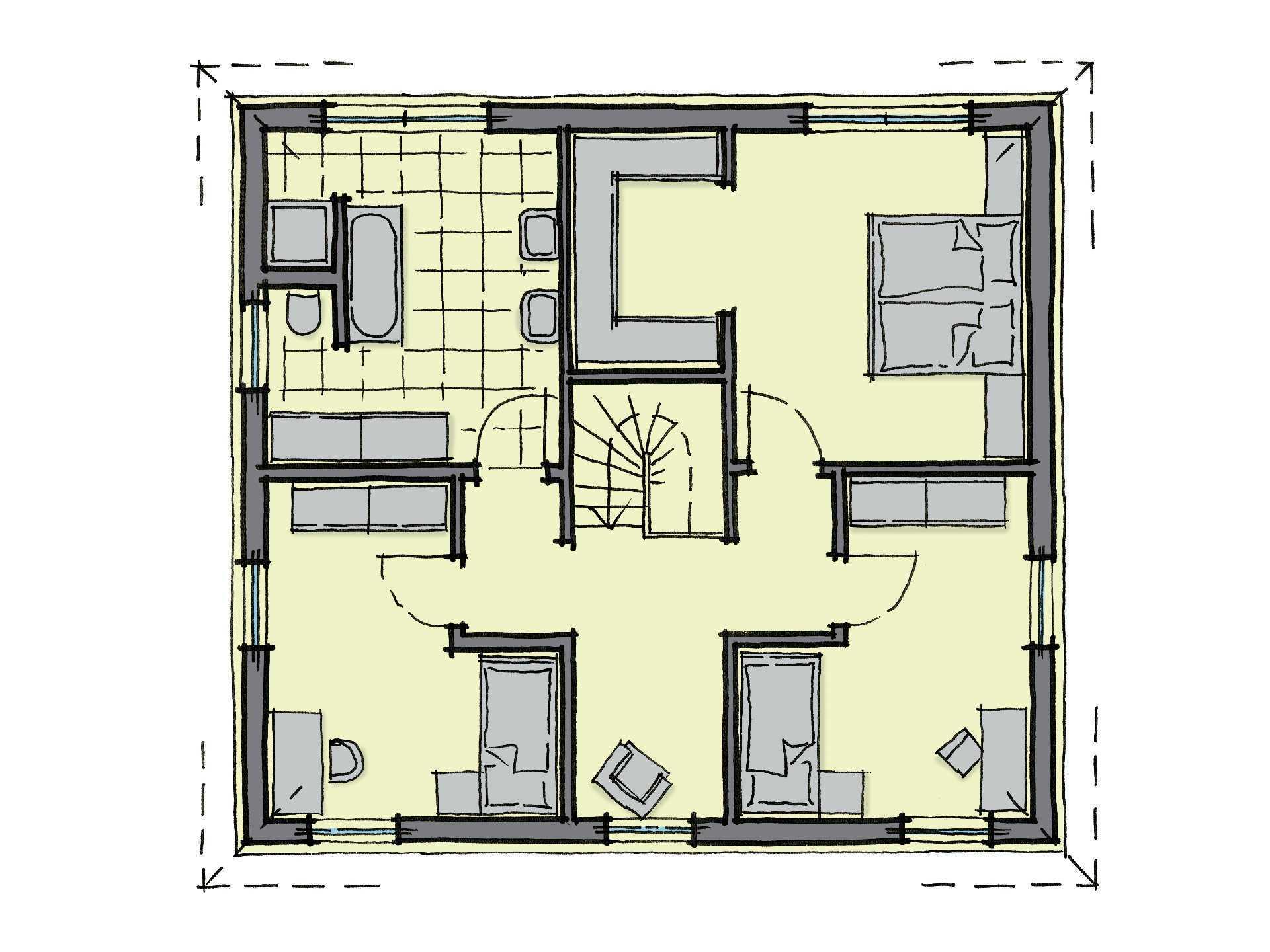 Stadthaus Holmen - Ein Screenshot eines Videospiels - Gebäudeplan