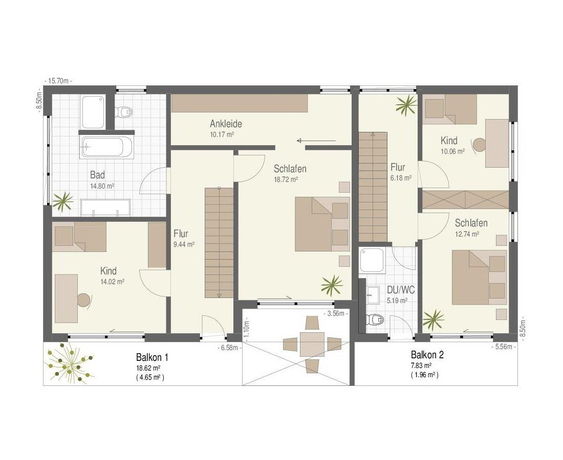 Ehrenbach - Ein Screenshot eines Handys - Gebäudeplan