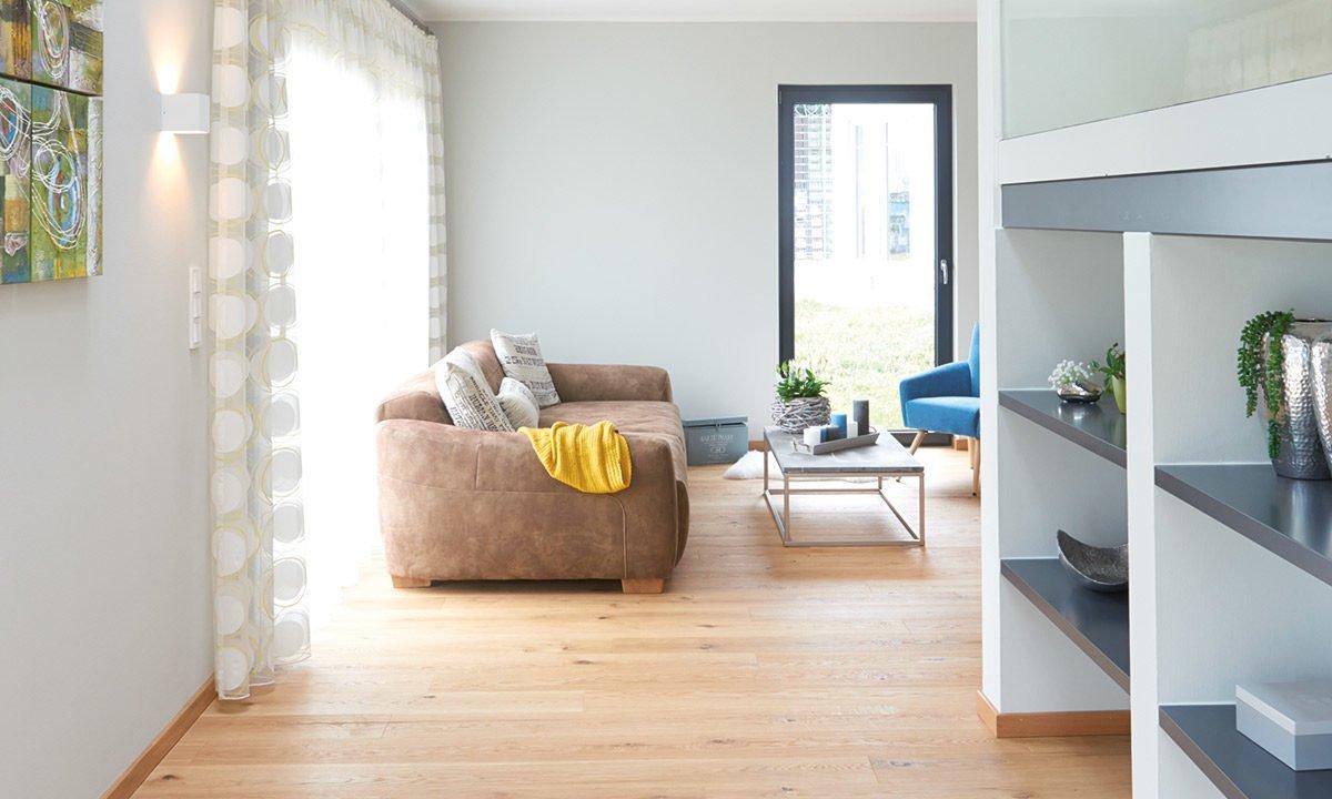Musterhaus Koblenz - Ein Blick auf ein Wohnzimmer - Interior Design Services