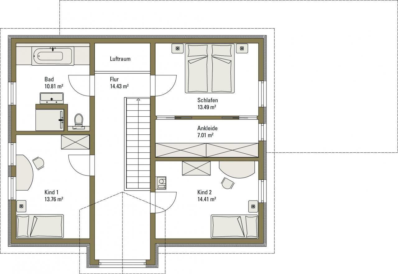 Musterhaus Life - Eine Nahaufnahme von einer Karte - Gebäudeplan