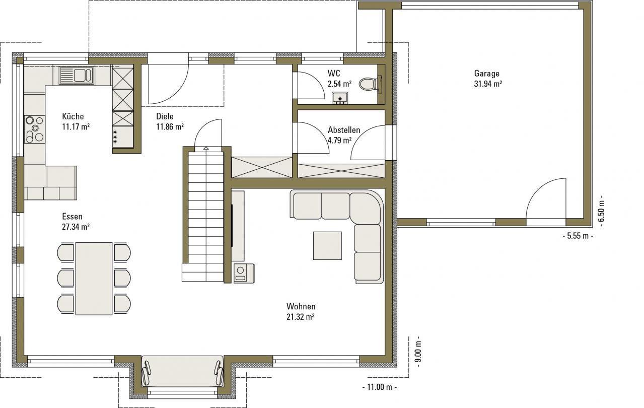 Musterhaus Life - Eine Nahaufnahme von einer Karte - Fertighaus Weiss
