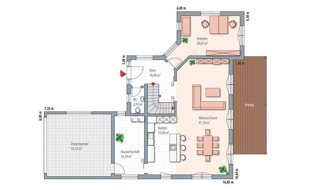 Edition Select 196 - Eine Nahaufnahme von einer Karte - Gebäudeplan