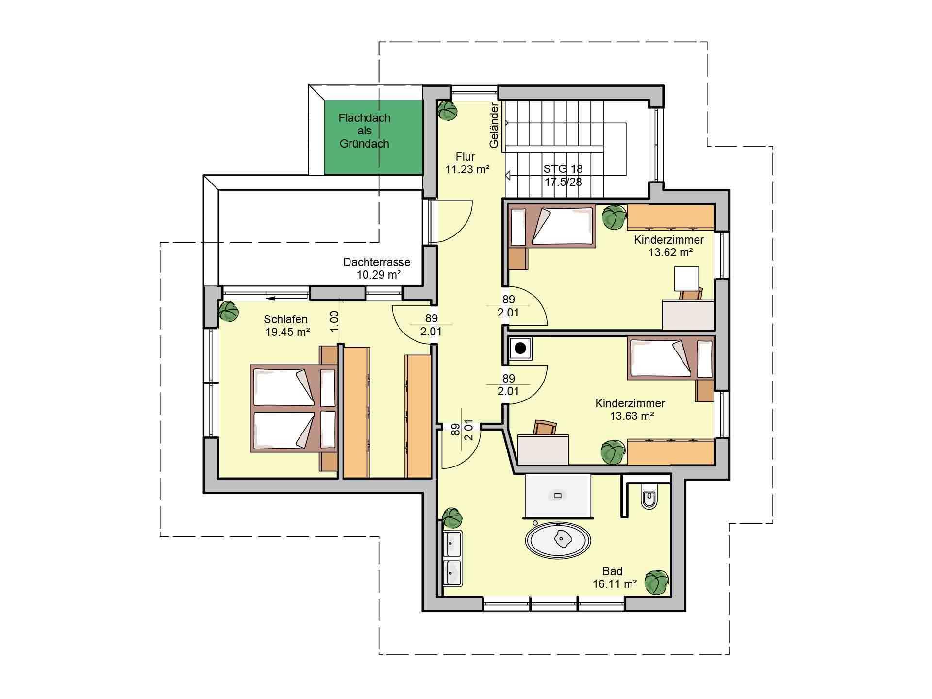 Elegant 168 (Musterhaus Fellbach) - Eine nahaufnahme von text auf einem weißen hintergrund - Gebäudeplan