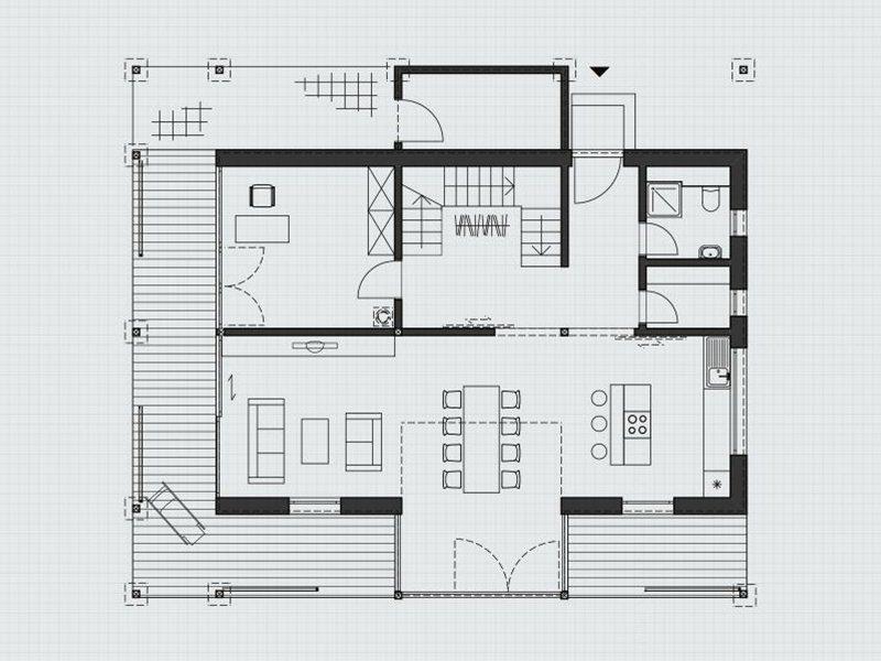 Architektur in Glas - Eine Nahaufnahme eines Geräts - Gebäudeplan