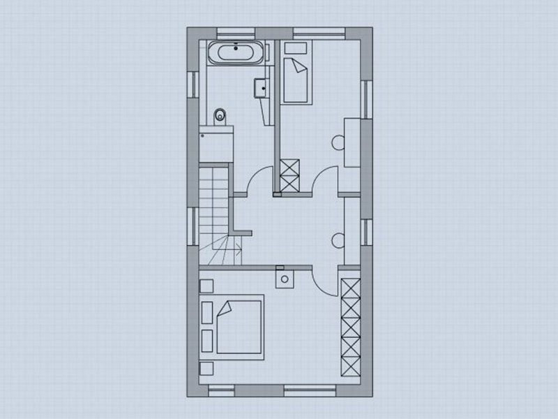Hochhinaus - Eine Nahaufnahme von einem Computer - Gebäudeplan