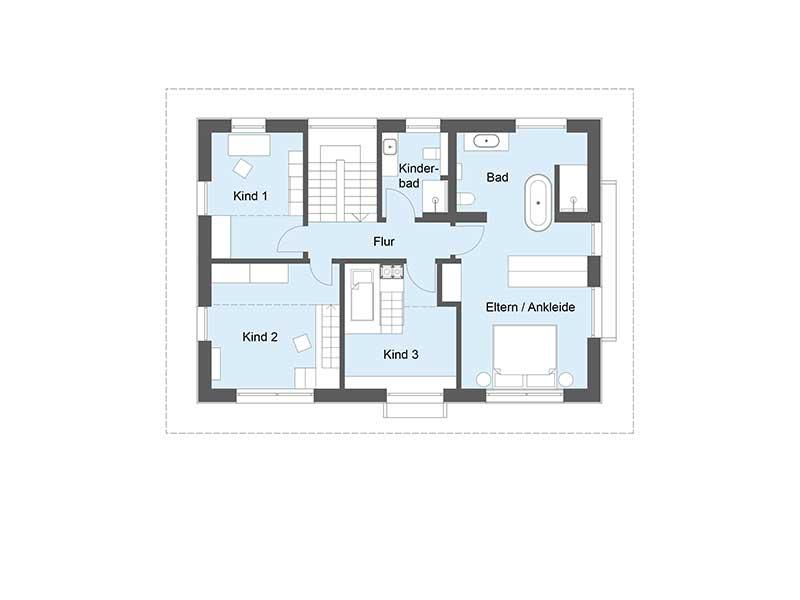 Musterhaus Heimat 4.0 - Ein Screenshot eines Handys - Gebäudeplan