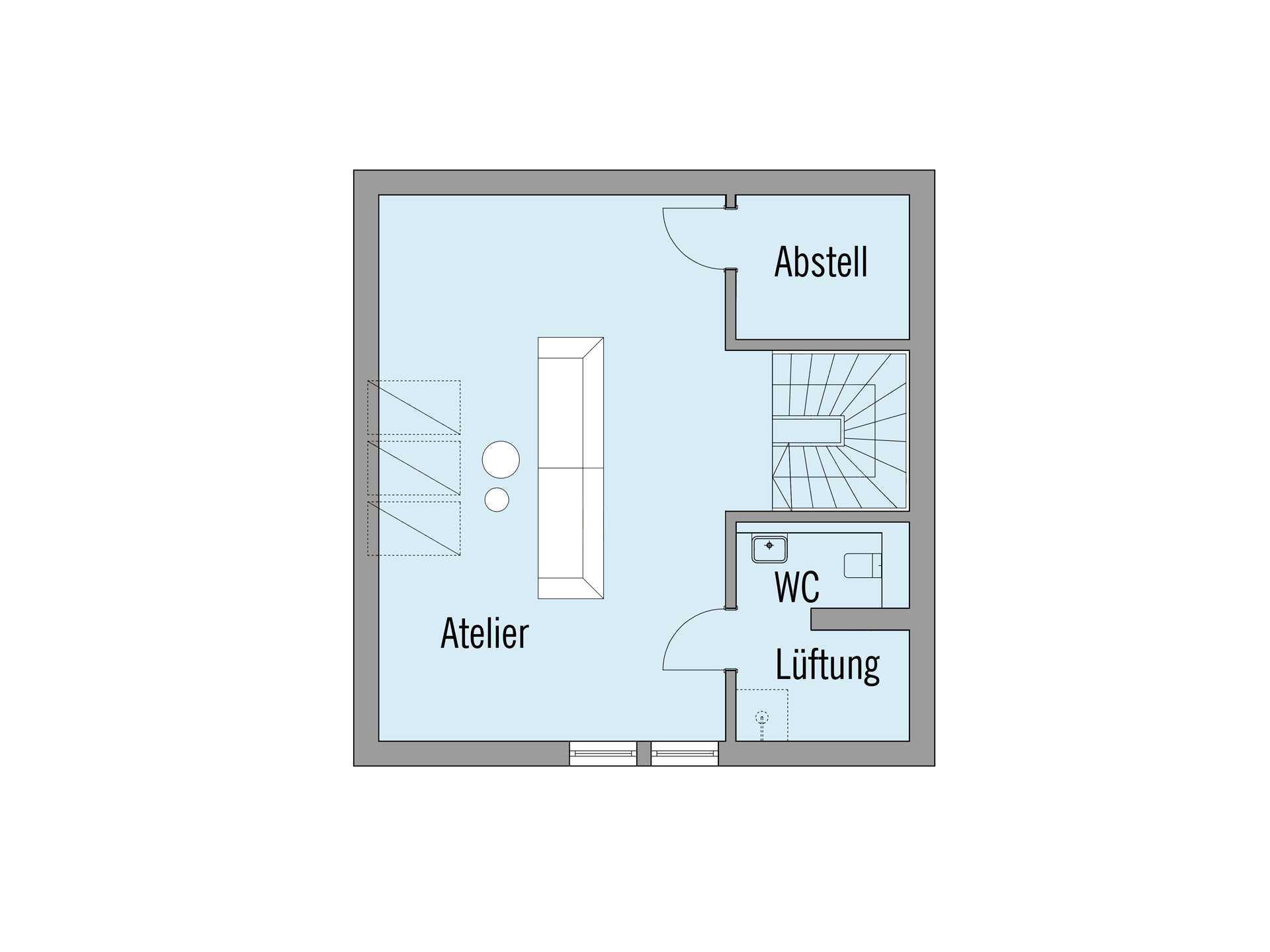 Haus am See - Ein Screenshot eines Handys - Gebäudeplan