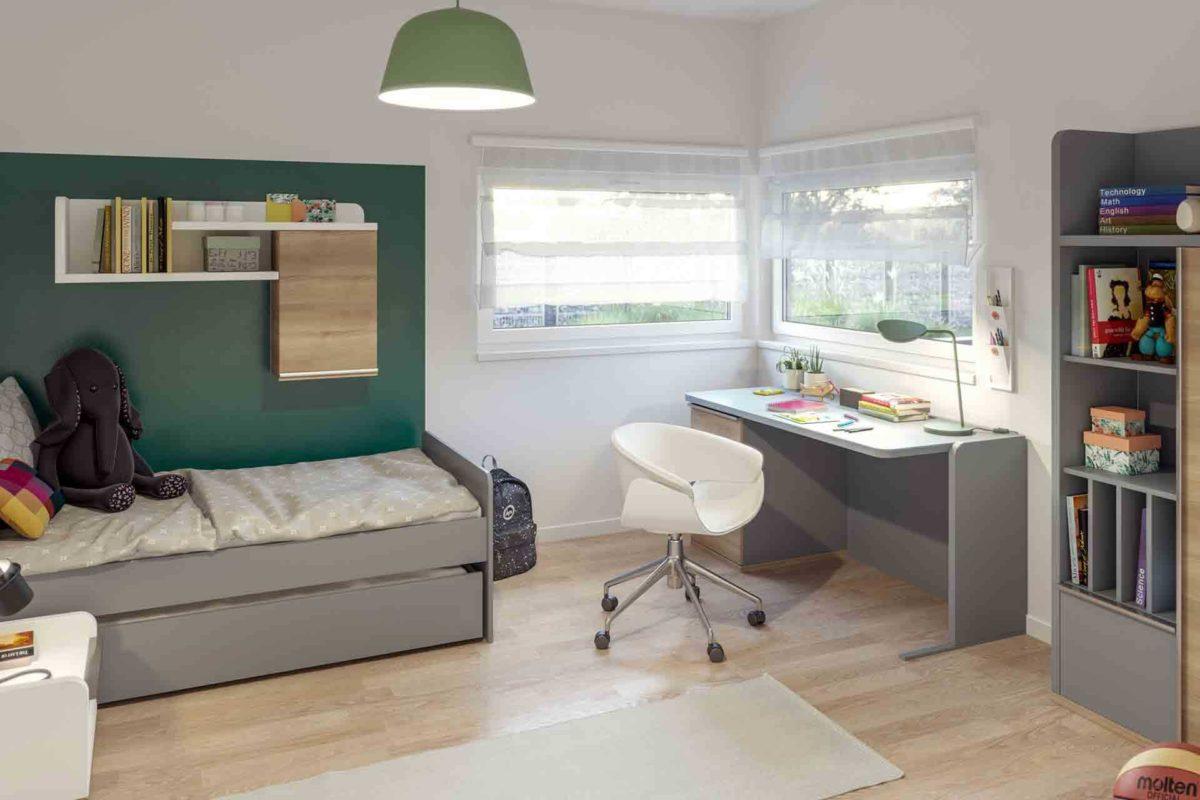 Ambience 110 v3 - Ein Wohnzimmer mit Möbeln und einem großen Fenster - Gebäudeplan