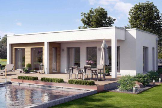 Ambience 77 v4 - Ein Haus mit Bäumen im Hintergrund - Bungalow