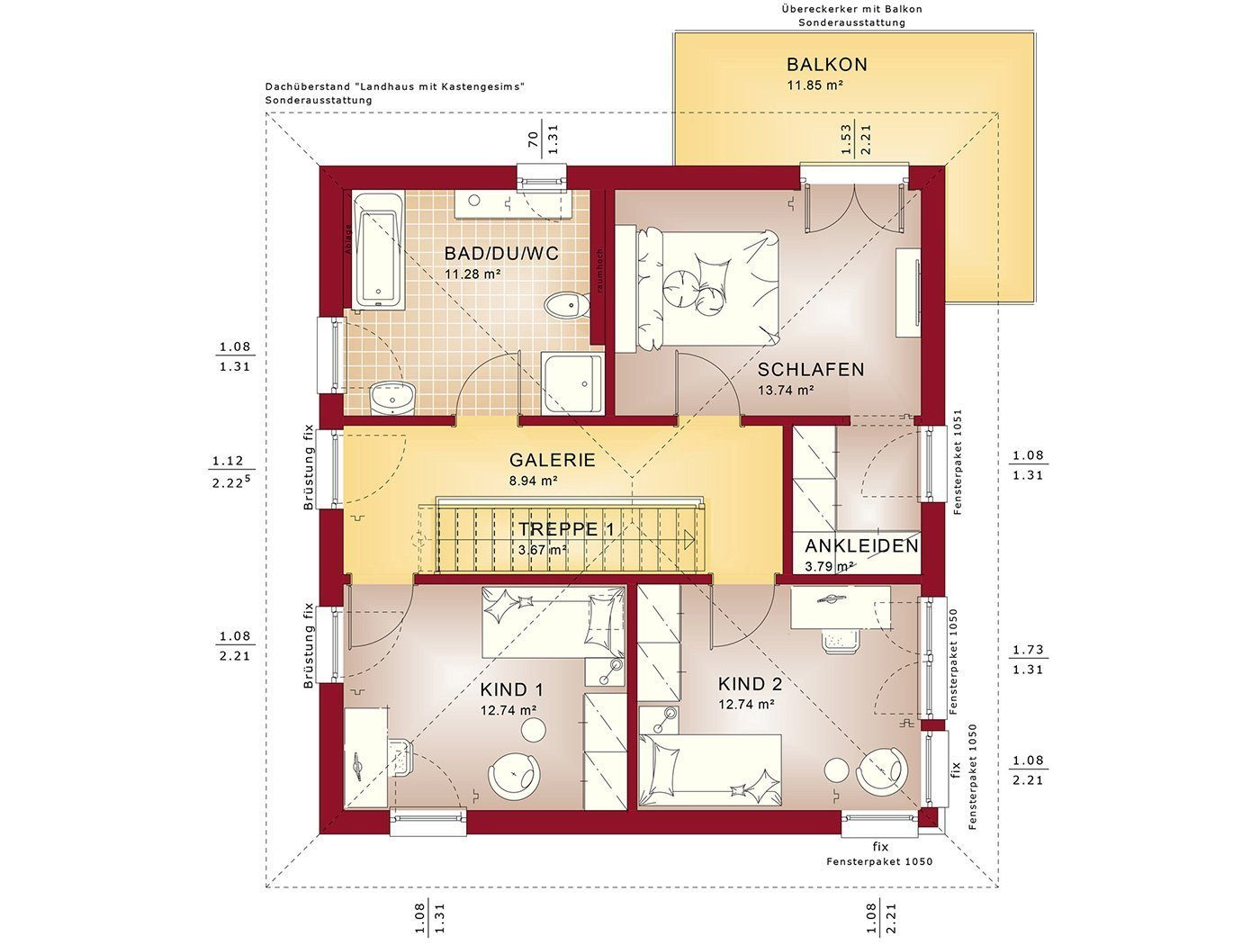 EVOLUTION 136 V7 - Eine Nahaufnahme einer Uhr - Gebäudeplan