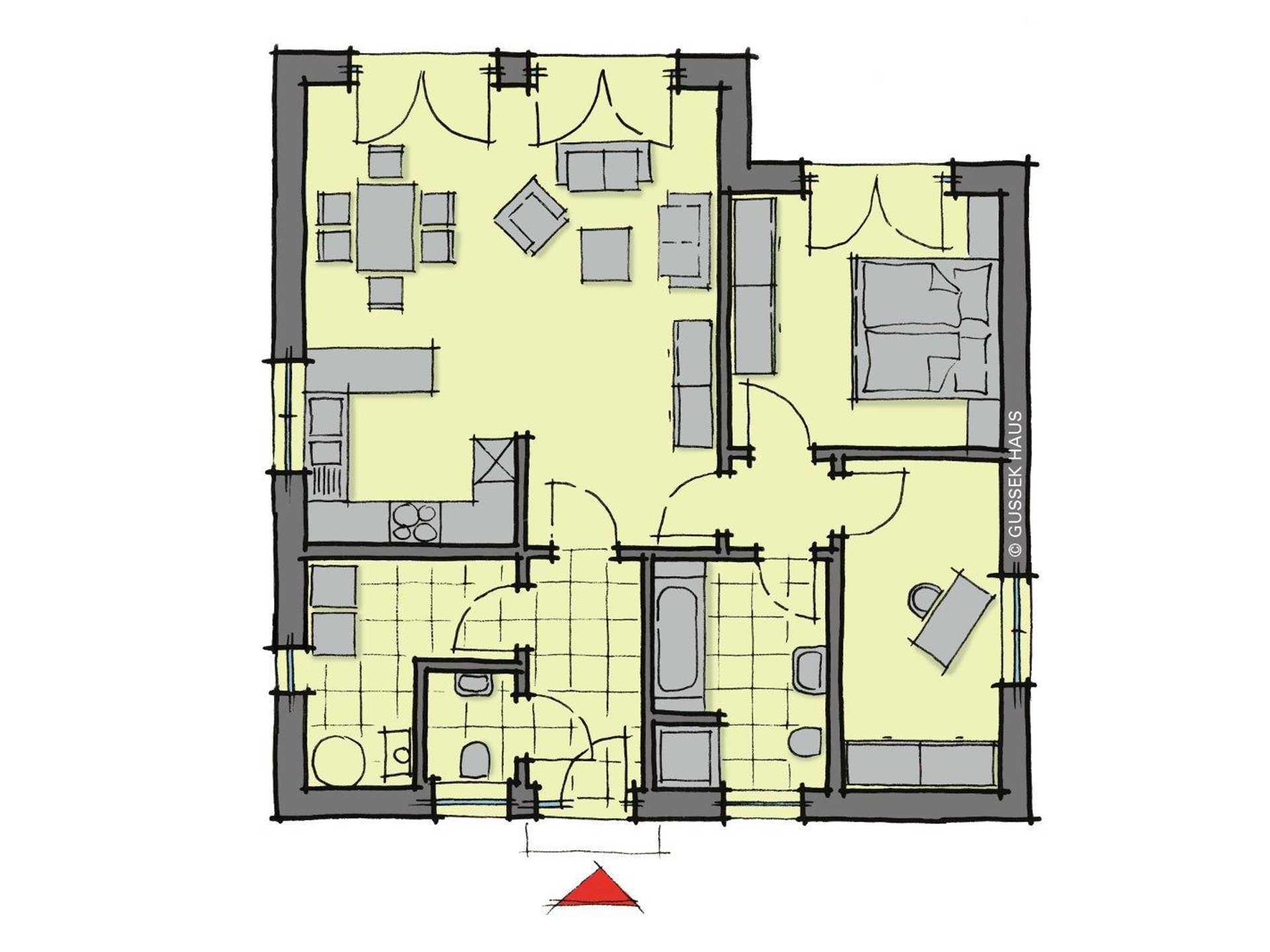 Bungalow Gomera - Eine Nahaufnahme einer Uhr - Gebäudeplan