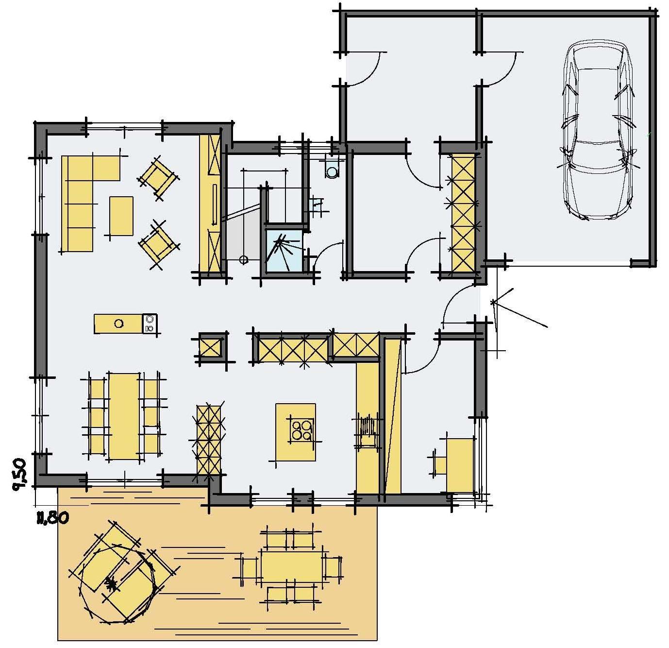 Haus Charkowski - Eine Nahaufnahme von einer Karte - Gebäudeplan