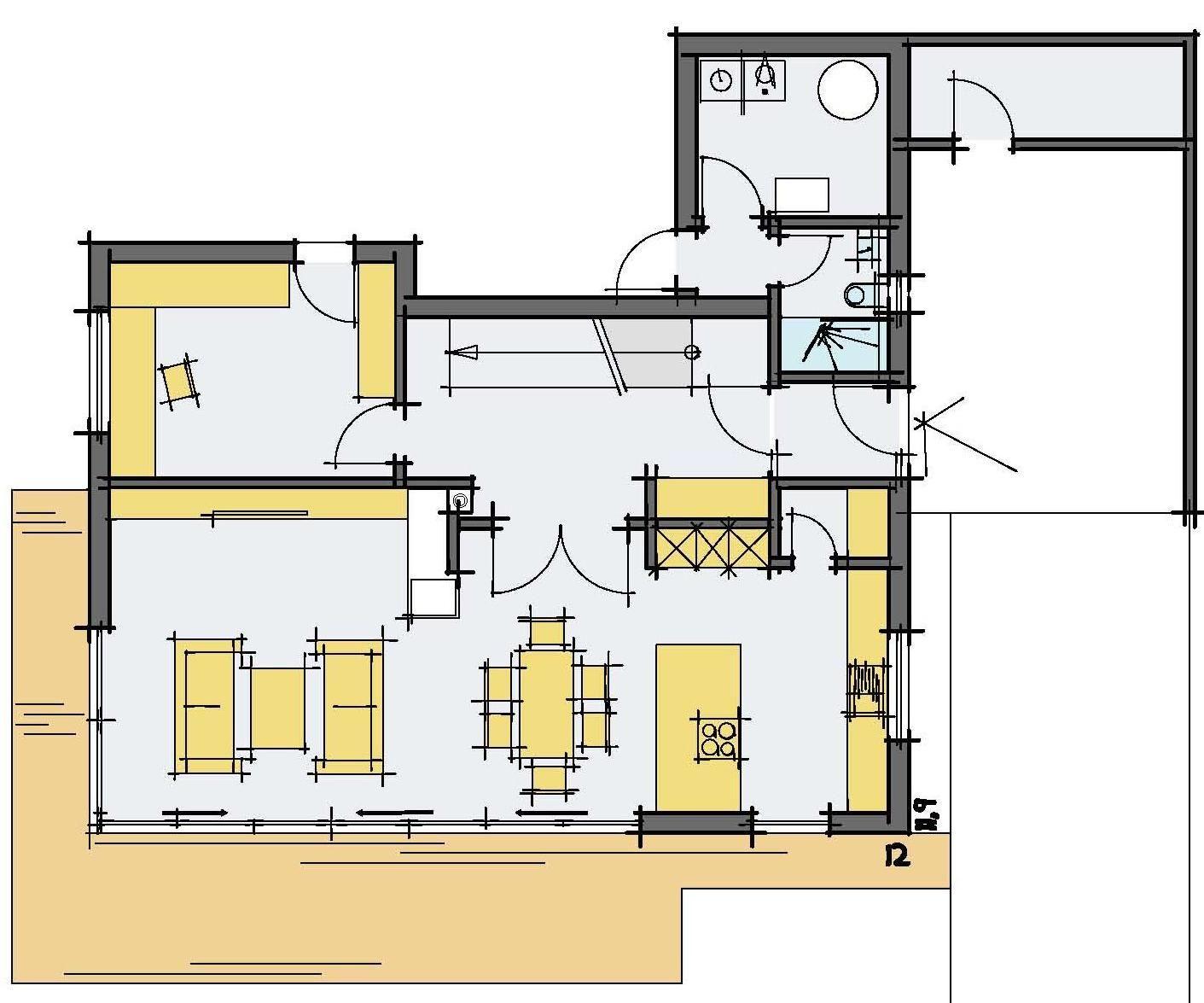 Haus Haug - Eine nahaufnahme von text auf einem weißen hintergrund - Gebäudeplan