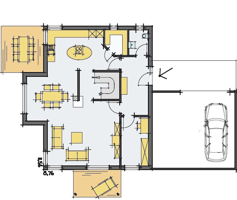 Stadtvilla Mehnert - Eine Nahaufnahme von einer Karte - Gebäudeplan